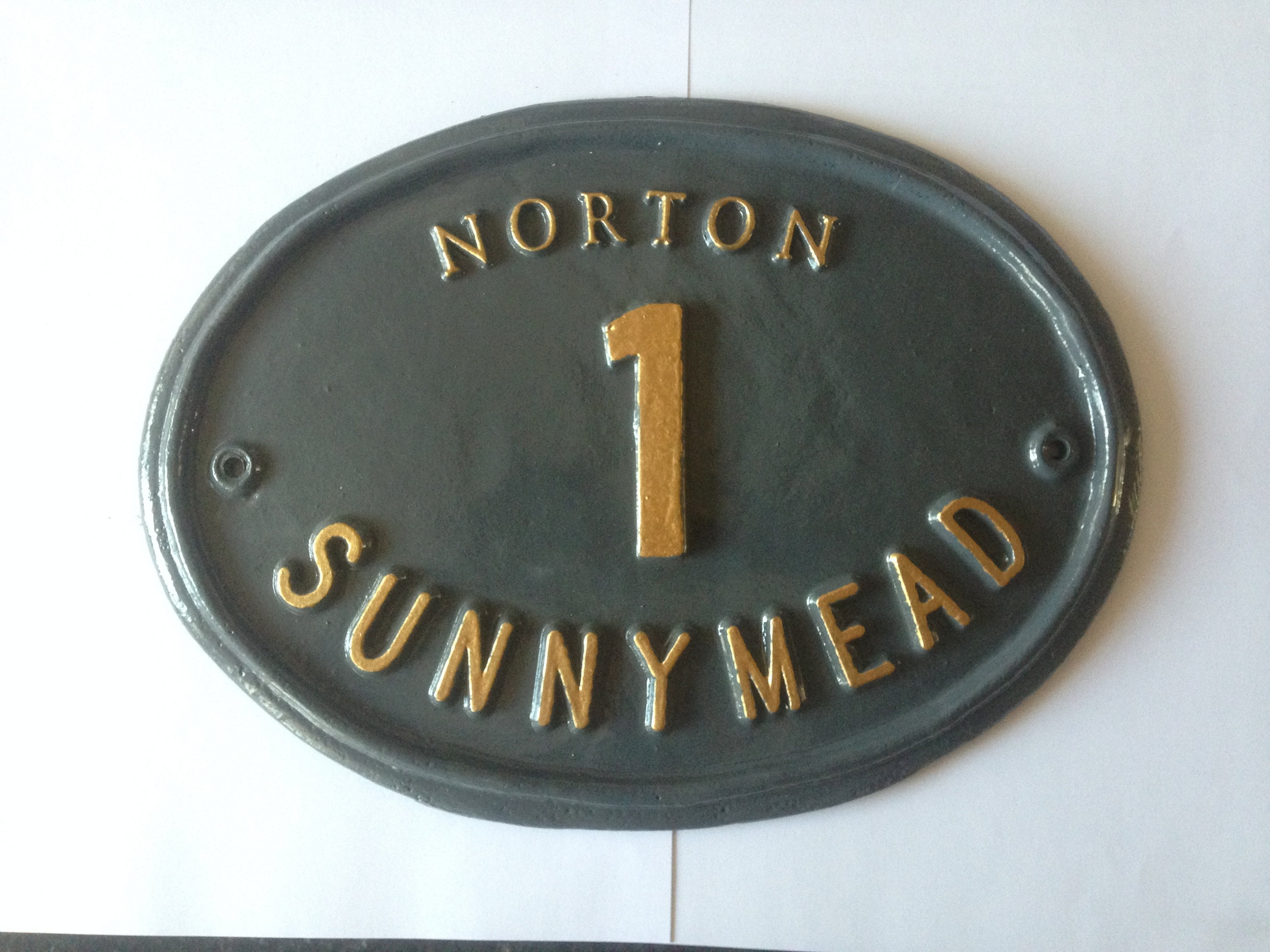 Personalised Name Cottage Metal Aluminium For House Door Sign Plaque 4 Sizes