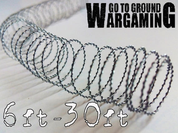 Model Barbed Wire (6ft-30ft) Mini Wargaming and Diorama