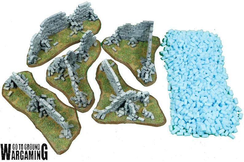 Foam Modelling Bricks [SMALL - 1000] - Wargaming Scenery and Terrain -  Warhammer 40k Buildings & Ruins