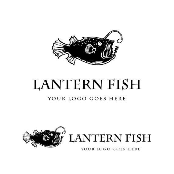 Lantern Fish Logo Design Fish Shop Logo Seafood Logo Premade Logo Design Fishing Logo Marina Logo Restaurant Logo