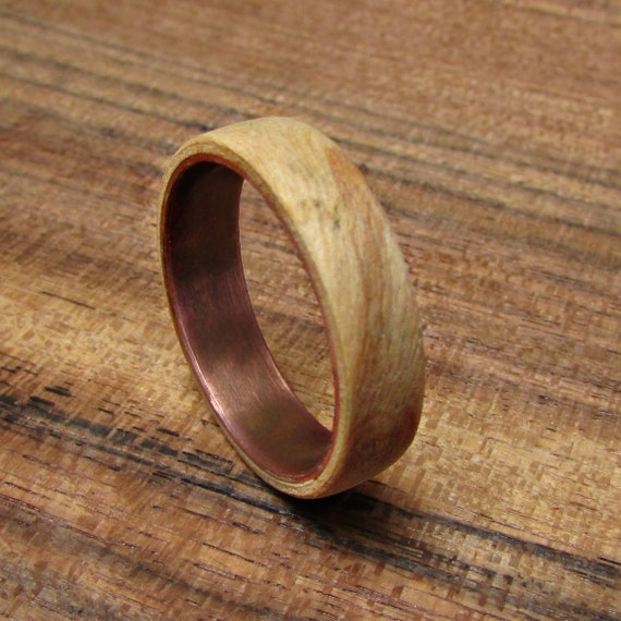 Olive Wood Wedding Ring Mens Wooden Wedding Bands Wood And Etsy