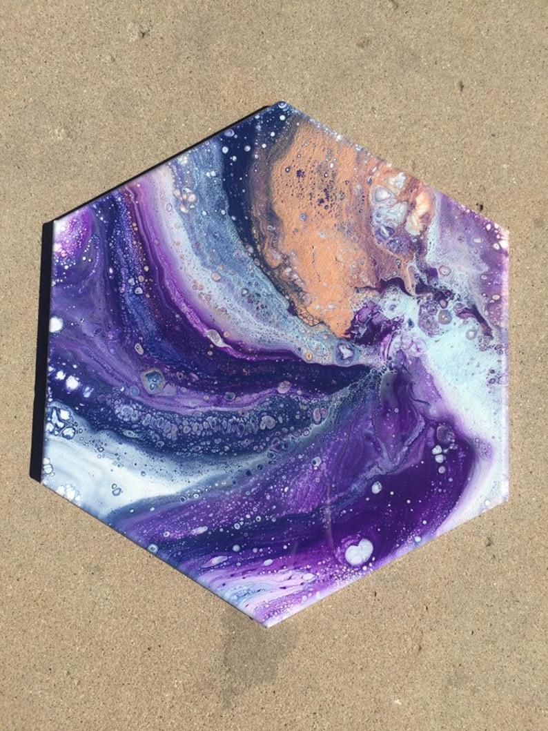 wall art resin art Fluid art home decor- acrylic painting fluid art work
