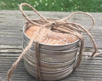 Mason Jar Lid Coasters ____ Set of 4
