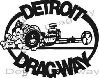 dragster etsy German Car the Pest 1997 detroit dragway dragster sticker decal