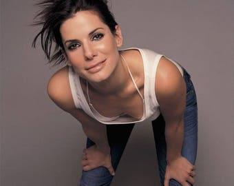 """8 x 10"""" Glossy Reproduction photo of  Actress Sandra Bullock"""