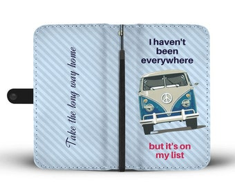 Vw bus wallet etsy vw lovers gift wallet phone case for apple iphone x 8 7 6 6s 6 plus samsung galaxy rfid protector vintage vw vanagon design kombi combi colourmoves