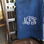 Personalized Baby Crib Quilt, Monogrammed Heirloom Quality Quilt or Playmat