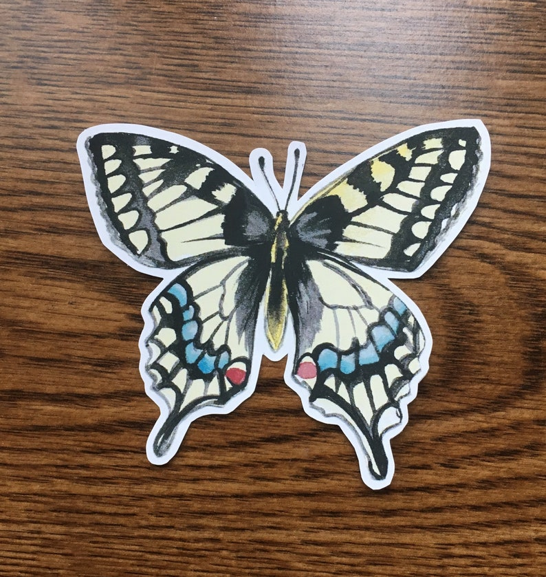 graphic relating to Papilio Printable Vinyl named Swallowtail Butterfly Vinyl Sticker, Butterfly Laptop or computer Sticker