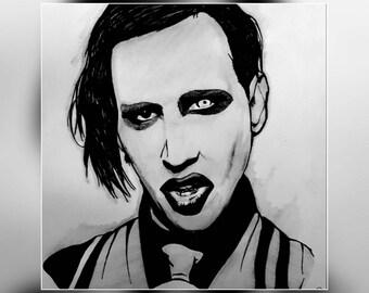 """Original portrait """"Marilyn Manson"""""""