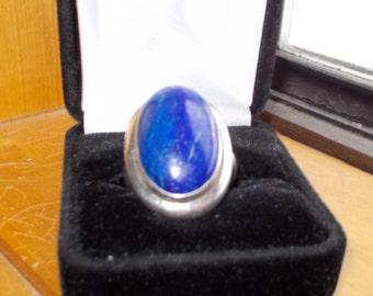 Lapis Lazuli sterling ring size 8.5