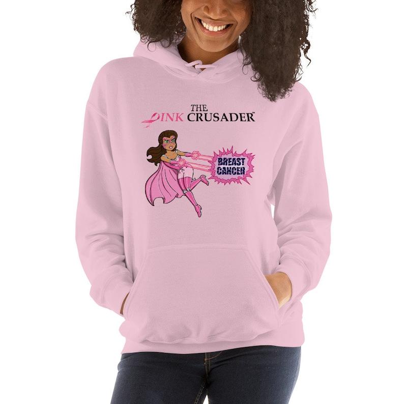 Pink Crusader Breast Cancer Unisex Hoodie 4 image 0