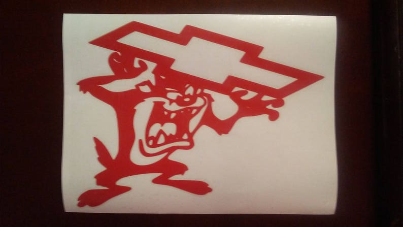 "Tazmanian Devil  Fear This With Jeep Logo  Decal Window Sticker Size 5/"" x 5/"""