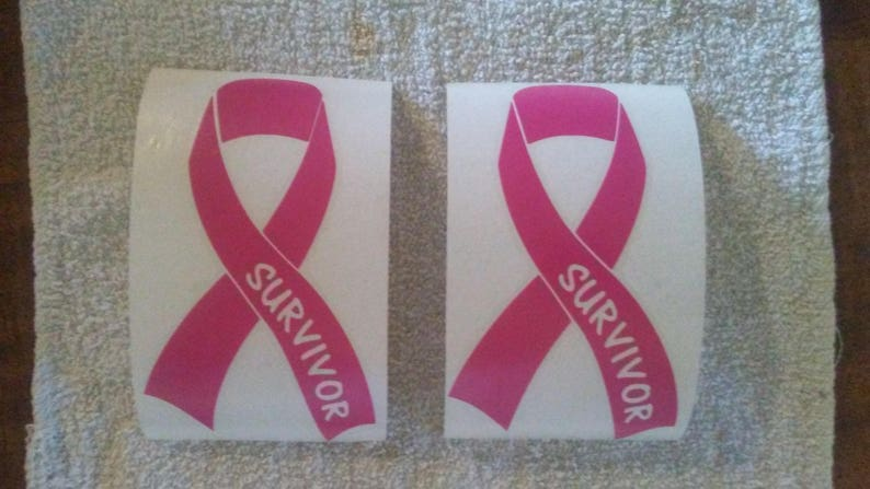 """Breast cancer Survivor Decal Car//Truck Window Decal 4/"""" x 7/"""" Buy One Get One Free"""