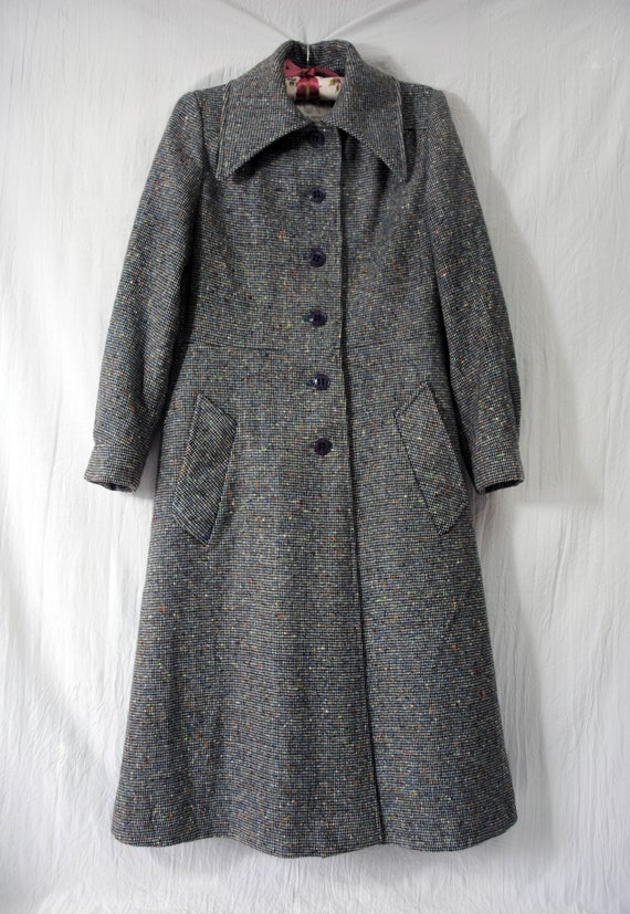Neusteter's wool and nylon belted coat, vintage w… - image 2