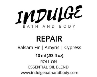 Repair - Essentials Collection - Amyris Cypress Balsam Fir Essential Oil Roll on .33 oz by Indulge Bath and Body