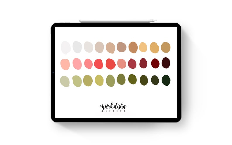 Christmas Vibes Procreate Color Palette/ iPad Pro ...