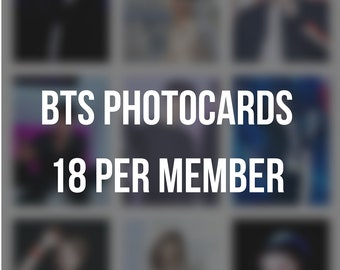 18 BTS Solo Photocards