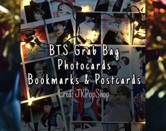 BTS (방탄소년단) KPop Grab Bag | Postcards, Photocards and Bookmarks