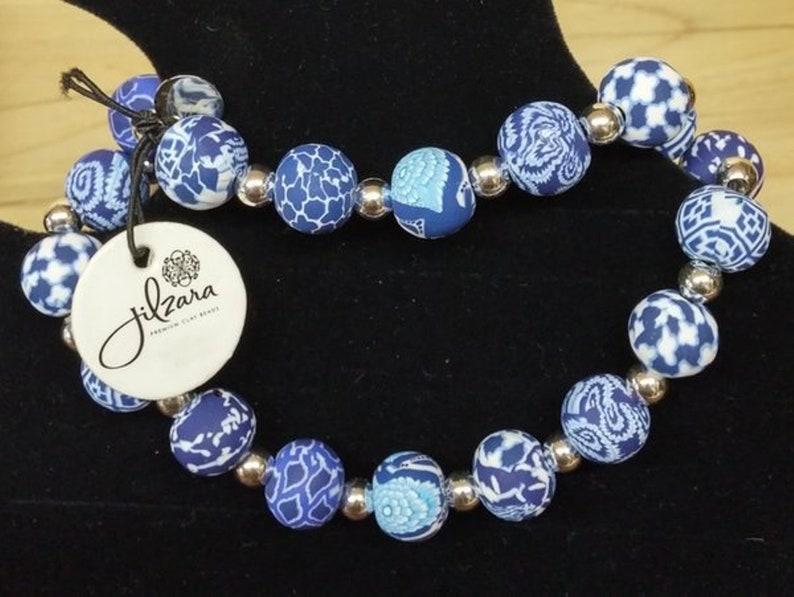 Jilzara Clay Bead Necklace 023954