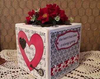 Valentine Decoration/Gift Wooden Block