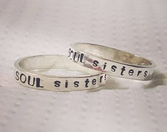 Personalized Hand Stamped Stackable Rings