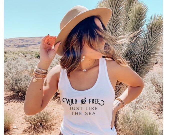Wild & Free Tank or Tshirt