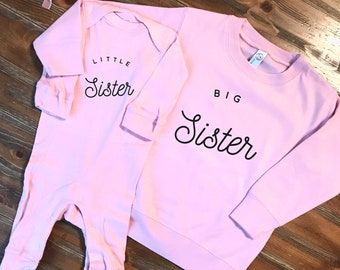 Little sister big sister sibling sweatshirts