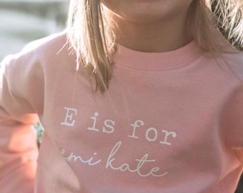 Alphabet shirt, letter sweatshirt, toddler sweatshirt, a is for, kids sweatshirt, toddler gift