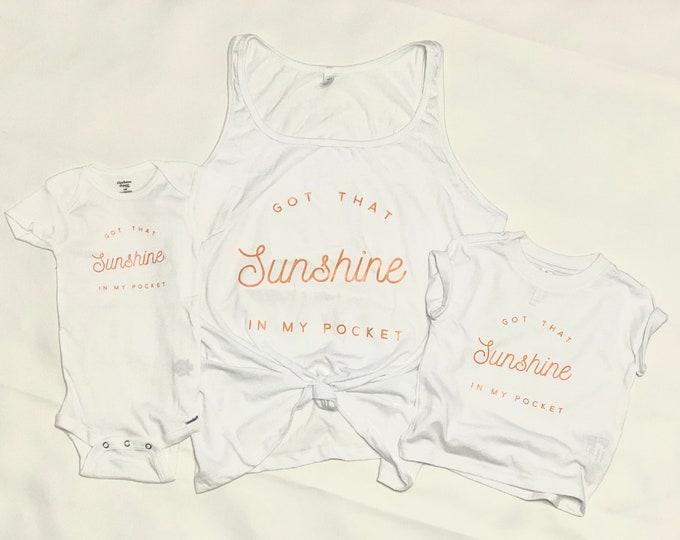 Sunshine in my Pocket bodysuit or toddler tee