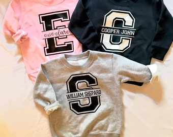 Personalized Toddler Varsity Sweatshirt