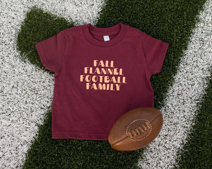 Fall Flannel Football Family