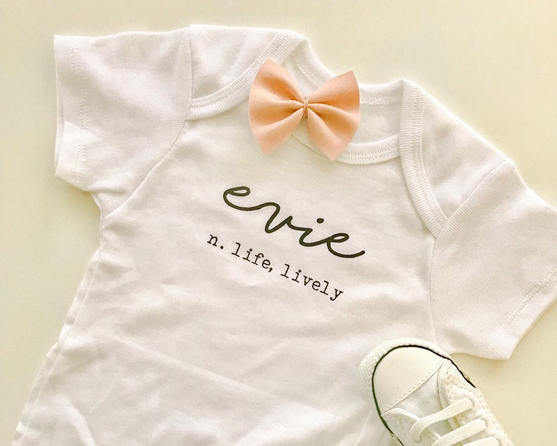 Baby Name Meaning Bodysuit or tshirt