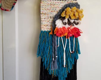 Woven Wall Hanging - Textile Art - Woven Tapestry - Weaving - Bohemian Tapestry