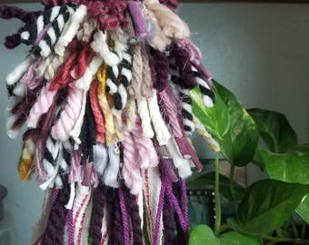 Tiny Woven Wall Hanging - Textile Art - Woven Tapestry - Weaving - Bohemian Tapestry