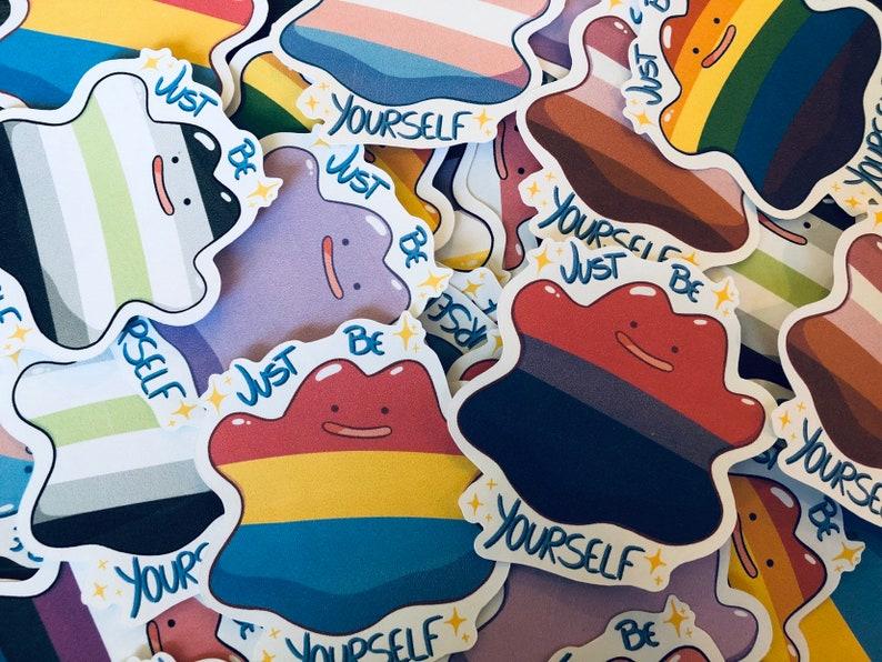 0b0ed902 Pokemon Ditto Pride Stickers Gay Lesbian Bisexual Pan   Etsy