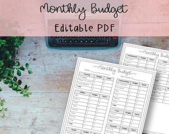 budget binder etsy