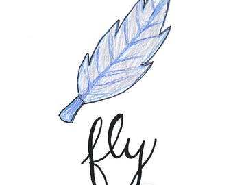 FLY | Feather Art Print