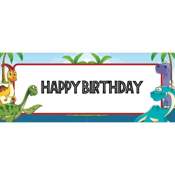 Dinosaur Digital Birthday Banner