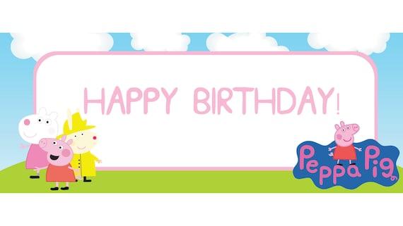 Peppa Pig themed birthday banner