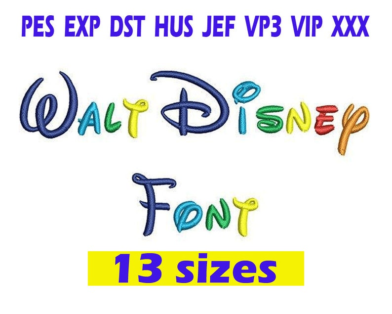 Walt Disney font Embroidery/ Walt Disney Font embroidery image 0