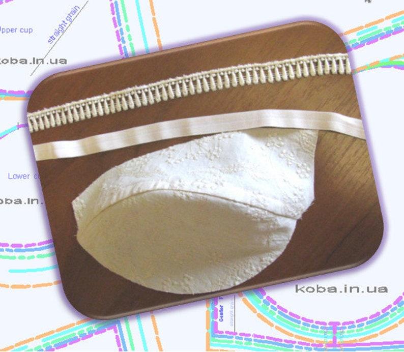 Instant download pdf sewing pattern. C A Multi sizes AA Bra making Bra PATTERN Bra sewing PATTERN Florens bra Bra pattern pdf D B