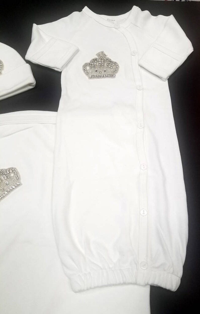 dfa827f40f10 Crown Baby Take Home   Brit Milah Outfit Set Baby gown Baby