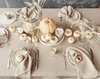 Thanksgiving Table Setting, Pottery Minimalist Rustic Plate Set, Luxury Ceramic Tableware, Houseware