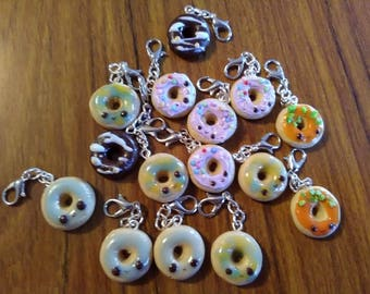 Dennis's Donut Polymer Clay Charms