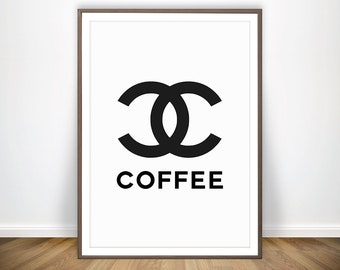 Coffee Print U2022 Kitchen Wall Art Coffee Poster Scandinavian Art Funny Coffee  Sign Coffee Wall Art Chanel Decor Coffee Printable Coffee Art