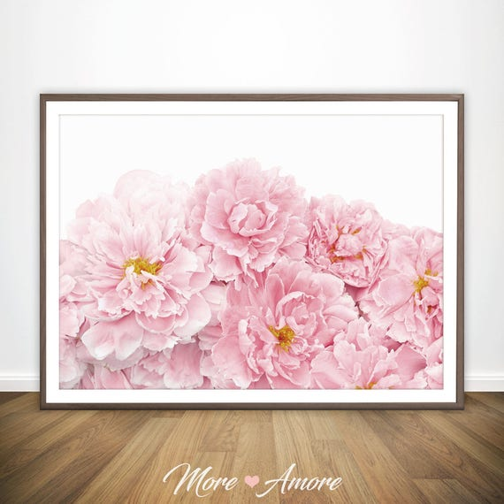 Blush pink peony print peony poster peony flower print etsy image 0 mightylinksfo