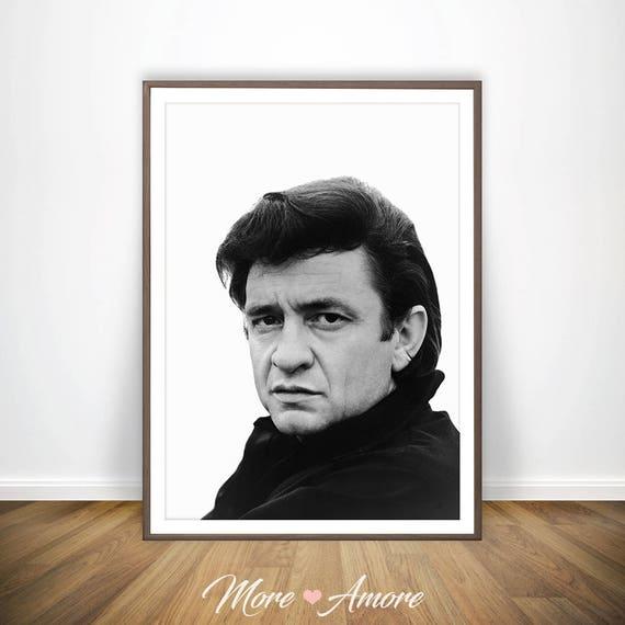 Johnny Cash Poster Johnny Cash Print Art Rock Print Johnny | Etsy