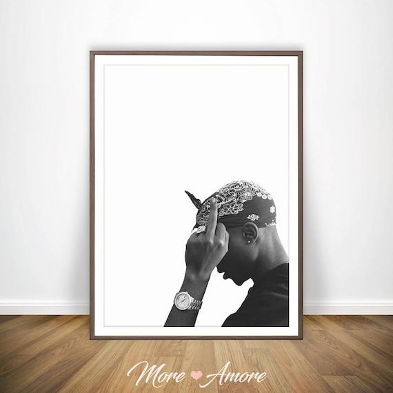 tupac print 2pac poster rap posters rap lyrics tupac poster etsy