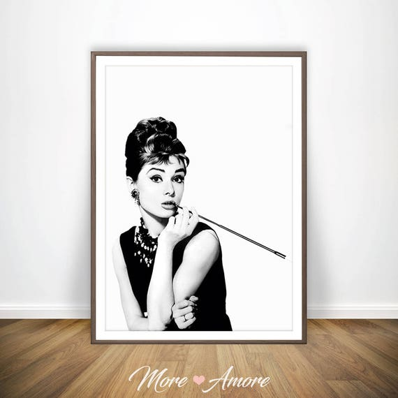 Breakfast At Tiffanys Poster Audrey Hepburn Print Audrey | Etsy