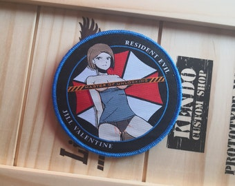 Biohazard Inspired, Jill Valentine Fan Art, Evil Resident, morale patch